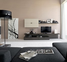 Wooden-bookshelves-and-flat-tv-feat-black-standing-lamps-for-small-living-room-sofas-design-ideas-fantastic-Modern-Day-Living-Room-TV-Idea
